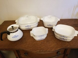 Corning Ware Tea Pot and Baking Ware